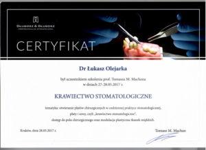 Łukasz Olejarka - certyfikat 10