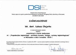 Łukasz Olejarka - certyfikat 12