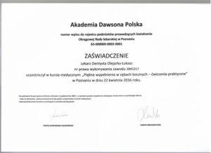 Łukasz Olejarka - certyfikat 19