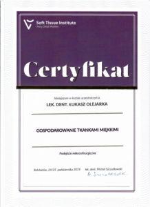Łukasz Olejarka - certyfikat 22