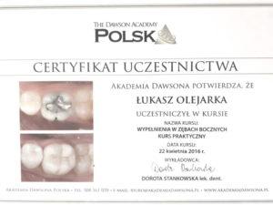 Łukasz Olejarka - certyfikat 3
