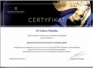 Łukasz Olejarka - certyfikat 5