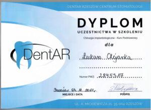 Łukasz Olejarka - certyfikat 6