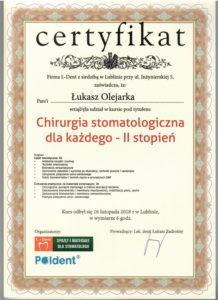 Łukasz Olejarka - certyfikat 7