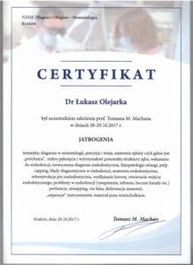 Łukasz Olejarka - certyfikat 9